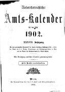 Amts-Kalendar ...