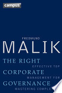 The Right Corporate Governance