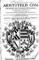 Dialectic   Aristotelis compendium  commentaria  pluresque articuli  Super logicam J  Duns Scoti  etc