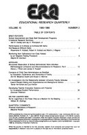 Educational Research Quarterly