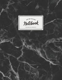 Notebook: Beautiful Black Marble White Label ★ School Supplies ★ Personal Diary ★ Office Notes 8.5 X 11 - Big Pdf/ePub eBook