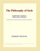 The Philosophy of Style  Webster s German Thesaurus Edition