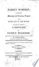 Ebook Family worship; a course of morning and evening prayers Epub James Bean Apps Read Mobile