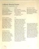 California Historical Quarterly