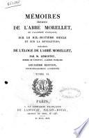 illustration Memoires Inedits de L'Abbe Morellet