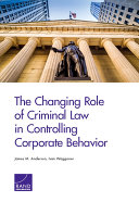 download ebook the changing role of criminal law in controlling corporate behavior pdf epub