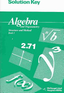 Algebra and Trigonometry Book 2 Solution Key
