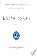 Esparsos  Volume I