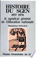 illustration Histoire du SGEN 1937-1970