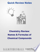 Chemistry Quick Review  Names   Formulas of Chemical Compounds