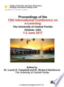 Icel 2017 Proceedings Of The 12th International Conference On E Learning
