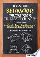 Solving Behavior Problems in Math Class