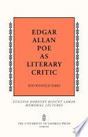 Edgar Allan Poe As Literary Critic