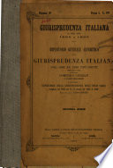 Giurisprudenza italiana di dieci anni, 1860 a 1869