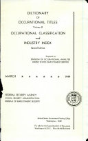 Dictionary Of Occupational Titles  book
