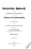 Schweizerisches Bundersrecht