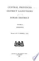 Central Provinces District Gazetteers