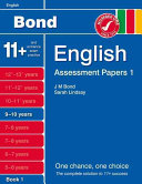 Bond Assessment Papers English 9 10 Yrs