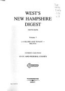 West s New Hampshire Digest  1760 to Date