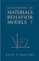 Handbook Of Materials Behavior Models book
