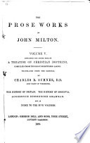 The Prose Works of John Milton      Same 2d  book  The history of Britain  The history of Moscovia  Accedence commenced grammar  Index