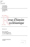Revue d histoire eccl  siastique