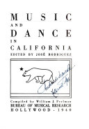 Music and Dance in California and the West