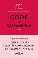 illustration Code de commerce 2017, annoté