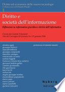 Diritto e societ   dell informazione  Riflessioni su informatica giuridica e diritto dell informatica