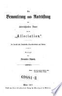 """Die Bemontirung und Ausrüstung der oesterreichischen Armee und die """"Association""""."""
