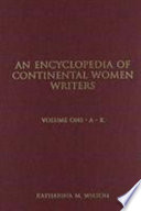 An Encyclopedia of Continental Women Writers
