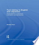 Turn-taking in English and Japanese