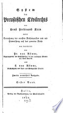 System des Preußischen Civilrechts