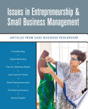 Issues In Entrepreneurship Small Business Management