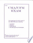 The Cma Cfm Exam