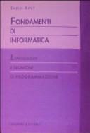 Fondamenti Di Informatica Linguaggi E Tecniche Di Programmazione