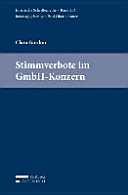Stimmverbote im GmbH Konzern