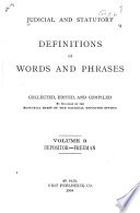 Judicial and Statutory Definitions of Words and Phrases