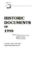 Historic Documents of 1998