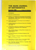The Asian Journal of Mathematics