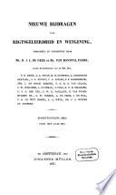 Nieuwe bijdragen voor regtsgeleerdheid en wetgeving