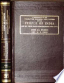 A Description of the Character  Mannes  sic   and Customs of the People of India