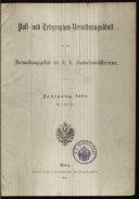 Post- und Telegraphen-Verordnungsblatt für das Verwaltungsgebiet des K.-K. Handelsministeriums