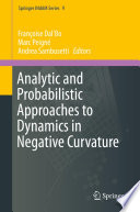 Analytic and Probabilistic Approaches to Dynamics in Negative Curvature
