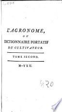 L agronome  ou Dictionnaire portatif du cultivateur