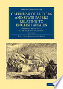 Calendar of Letters and State Papers Relating to English Affairs  Volume 2