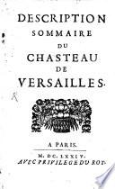 illustration Description Sommaire du Chasteau de Versailles