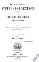 Englisch-deutsches supplementlexikon