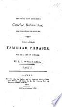 Deutsche und Englische gemeine Redensarten ... German and English familiar phrases for the use of schools