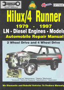 Toyota Hilux 4 Runner Diesel 1979 1997 Auto Repair Manual Ln Diesel Eng 2 4 Wheel Drive